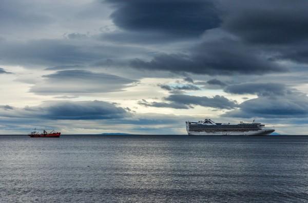 Ship spotting at Punta Arenas, Chile