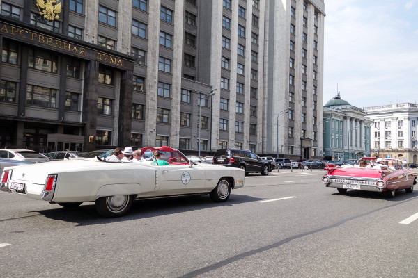 Kaspersky Oldtimer Rally in Moscow