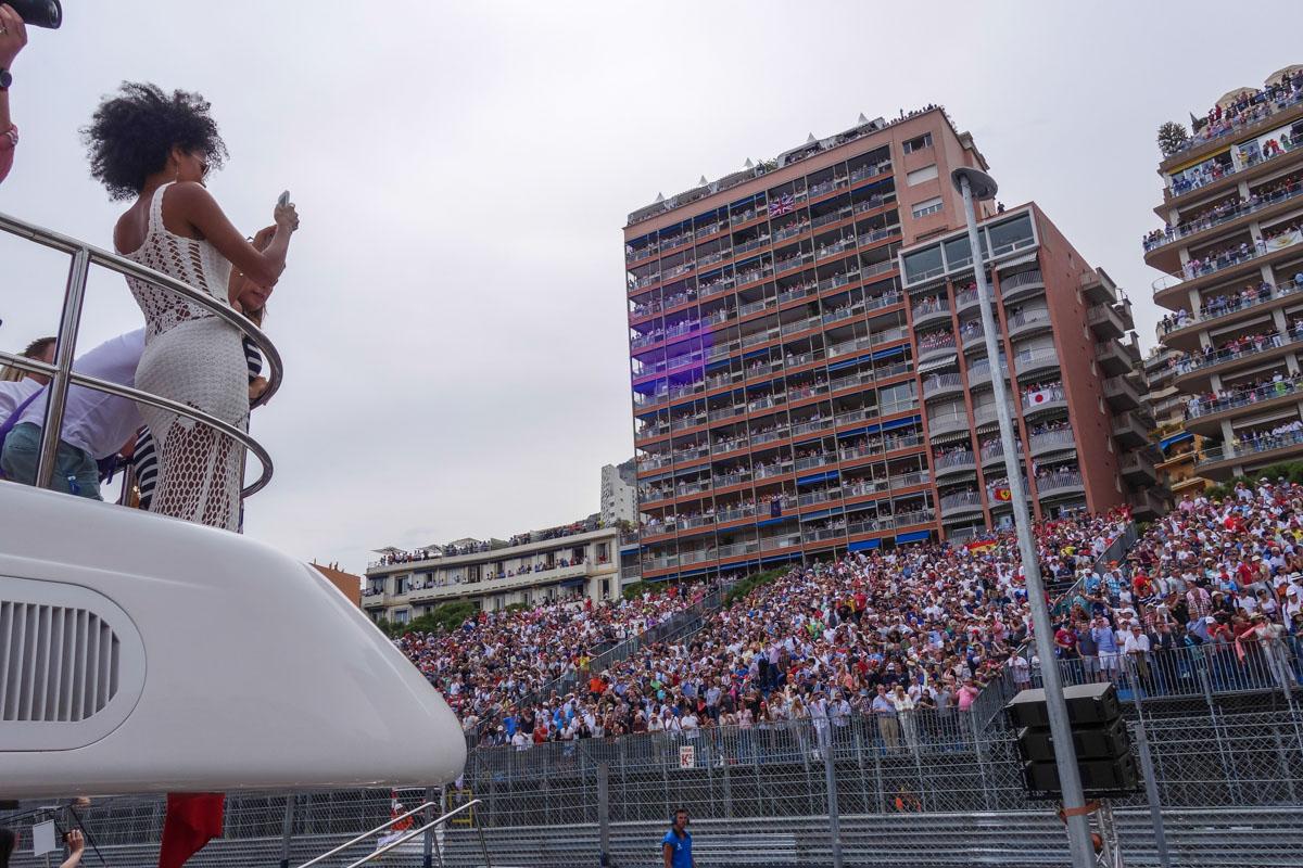 Гран-при Монако, смотрим с яхты!