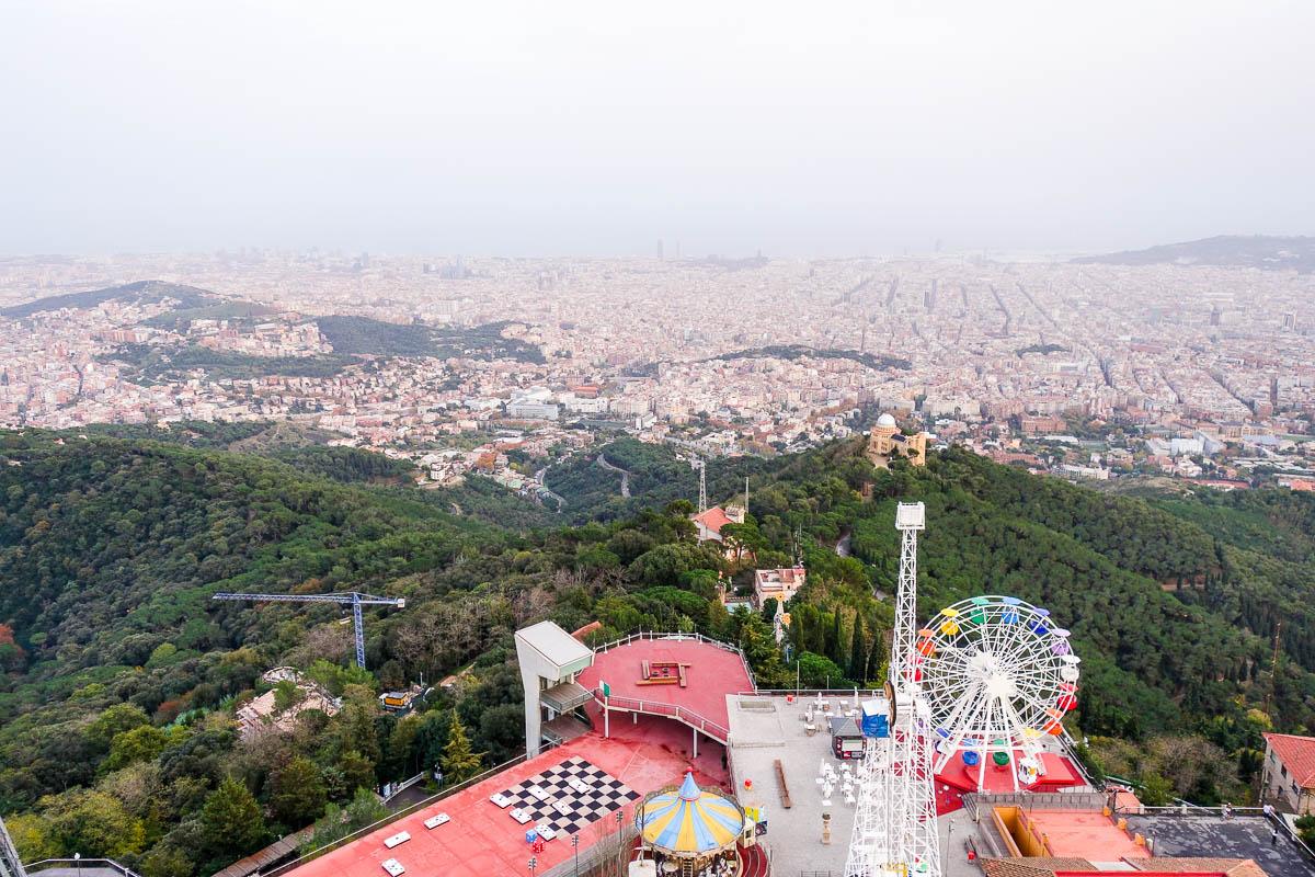 Барселона, вид сверху