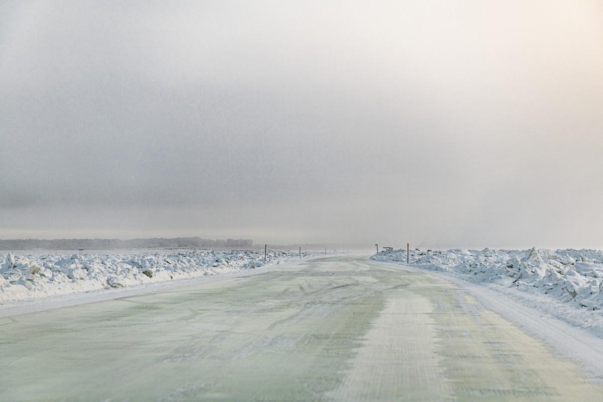 穿越西伯利亚勒拿河冰雪之路