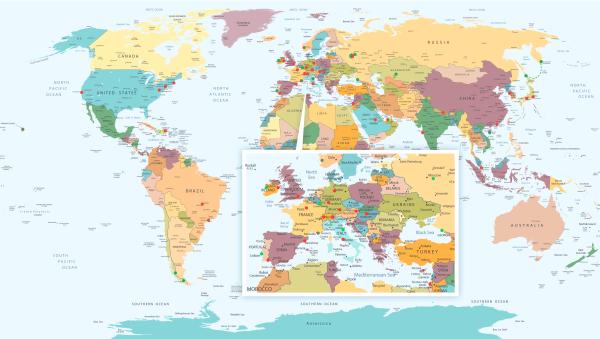 Мои перемещения по миру в 2014 году