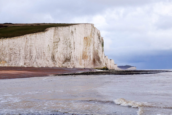 White Cliffs of Dover in January