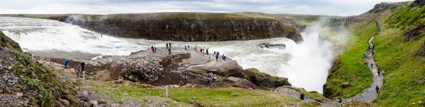 Gullfoss, l'une des cascades les plus célèbres d'Islande.