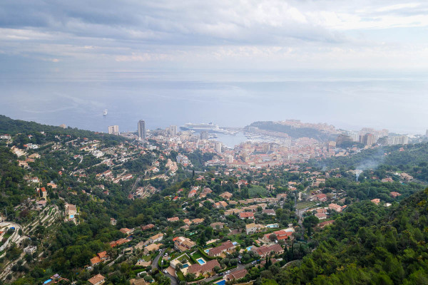 Monaco, Monte Carlo: bird eye view