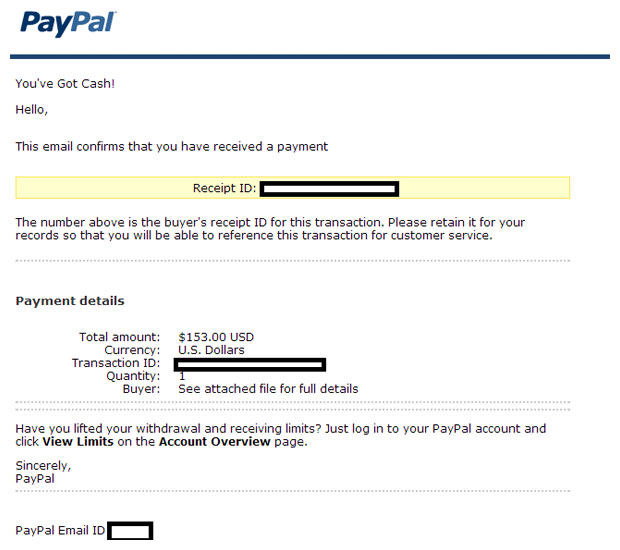 PAYPAL E MAIL