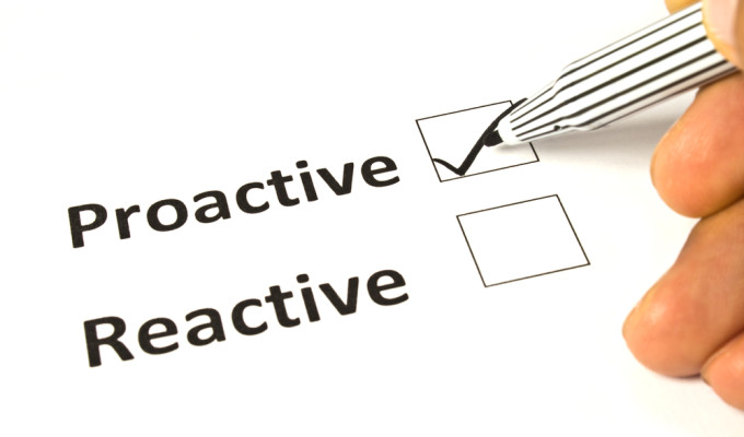 proactivity vs reactivity essay How to be proactive at work: my 5 step system  if you are born a proactive person, you can't be reactive only all the time though can happen few times and vice.