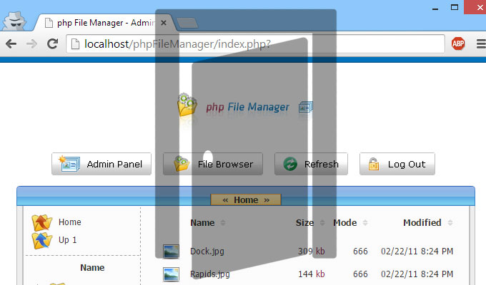 PHP file manager