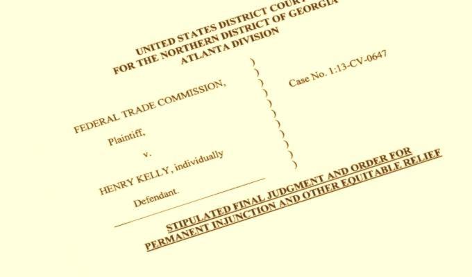 Генри Келли - соглашение с ФТК