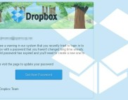 поддельное извещение Dropbox