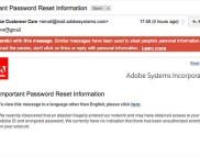 Gmail пометила письма Adobe как спам