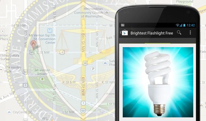 ФТК против разработчика Brightest Flashlight Free