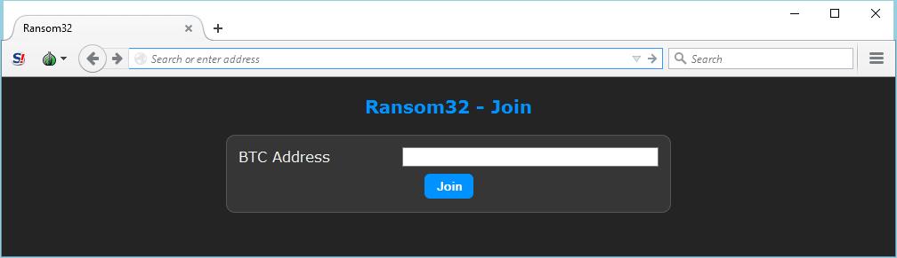 Ransom32 как услуга