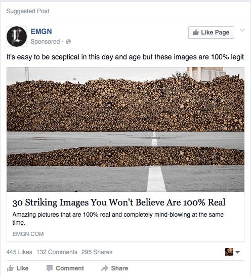 провокационная реклама на Facebook