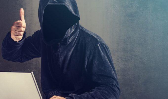 hacker hood thumbup