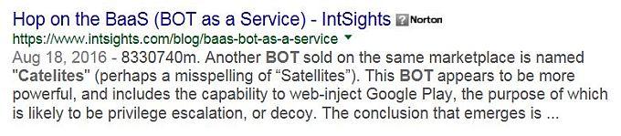 googling Catelites Bot 1