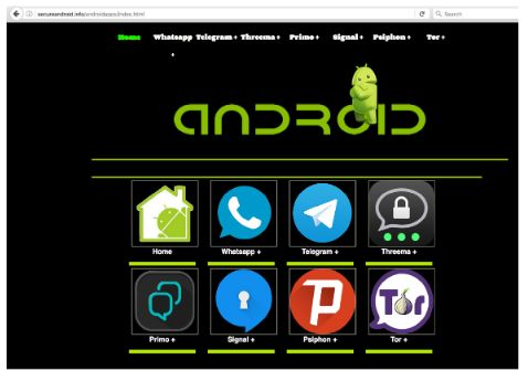 Dark Caracal malicous app store