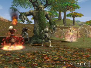 A-battle-scene-in-the-online-game-Lineage-2