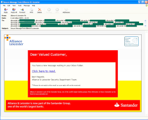 Another interesting phishing attack targeted clients...