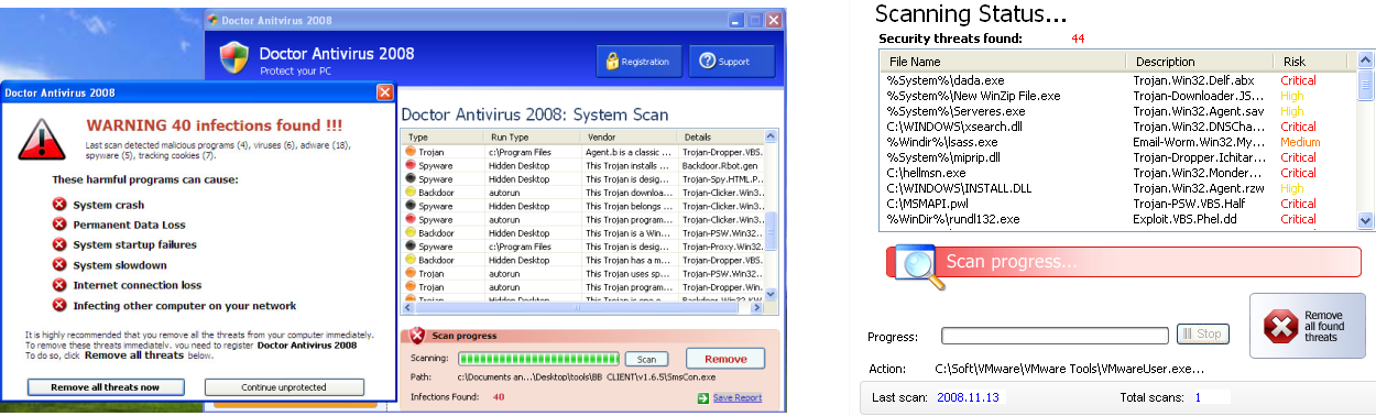 Results of system scan performed by DoctorAntivirus