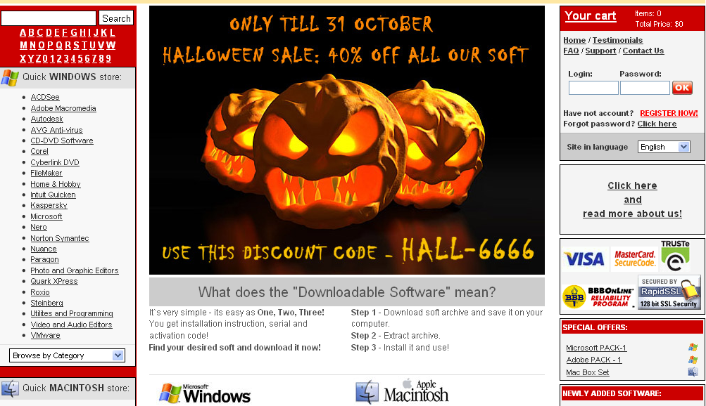 Halloween was once again actively exploited here...