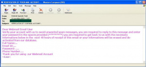 There were also phishing attacks targeting email users...