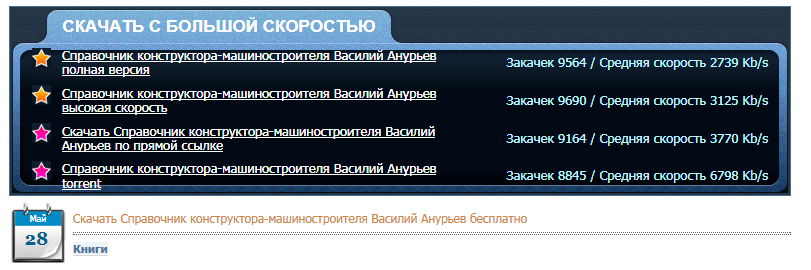 This Russian language screenshot purports to offer users a list of high-speed