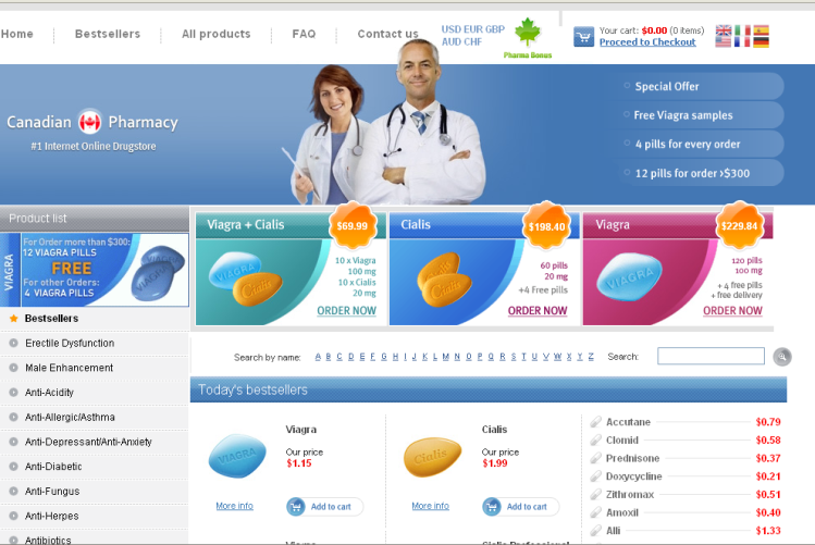 The Canadian Pharmacy website