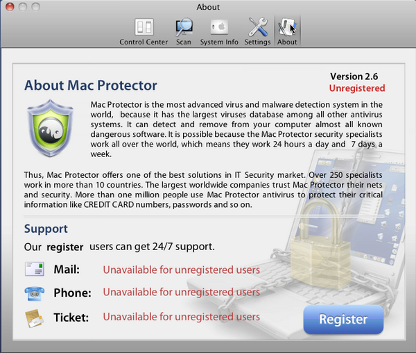 Mac Protector: Register your copy now! | Securelist