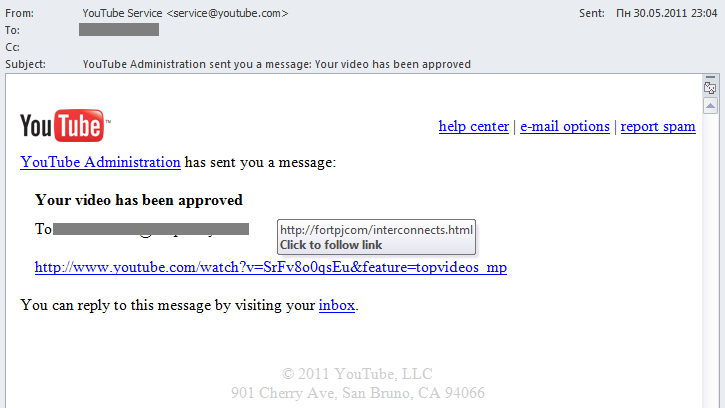 Spam and YouTube: a long-term relationship