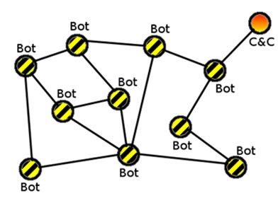 Architecture of a P2P botnet