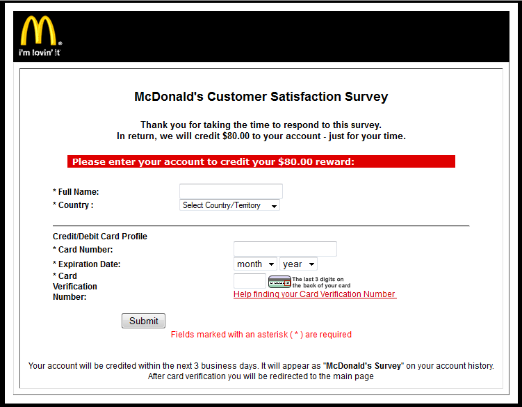 Phishers are lovin' McDonald's | Securelist