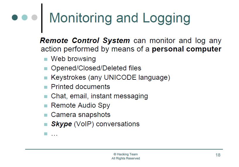 Spyware  HackingTeam | Securelist