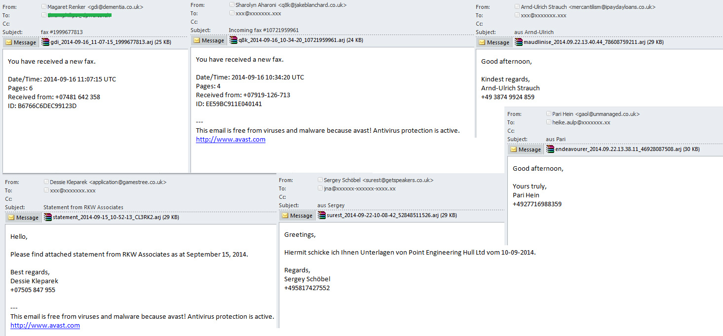 Malware in ARJ archives