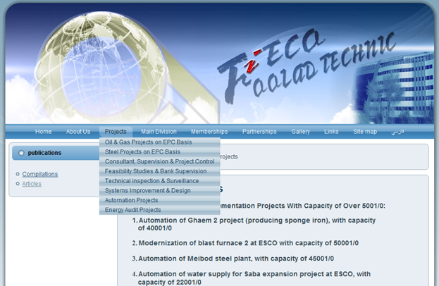 Screenshot from the company's website