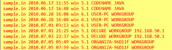 Example of information found in a Stuxnet file