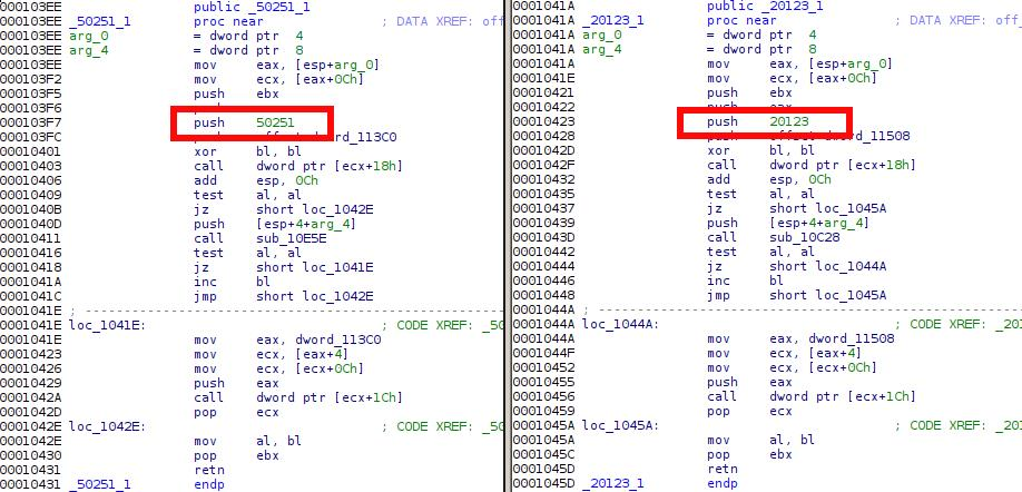 "Comparing the Regin module 50251 and the ""Qwerty"" keylogger 
