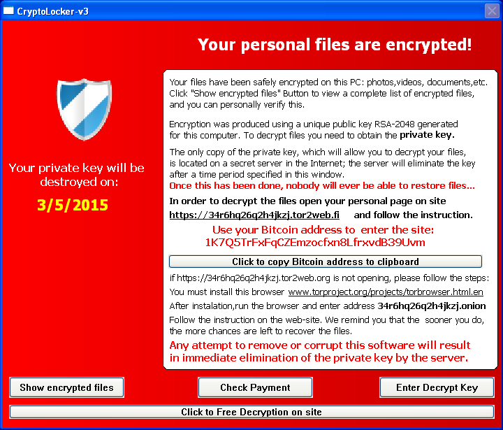 TeslaCrypt 2 0 disguised as CryptoWall | Securelist