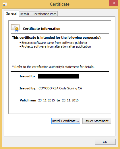 Backdoor.Win32.Mokes.imv Valid Certificate