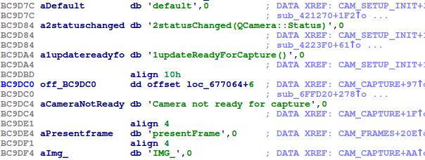 Backdoor.Win32.Mokes.imv references to code for capturing camera images