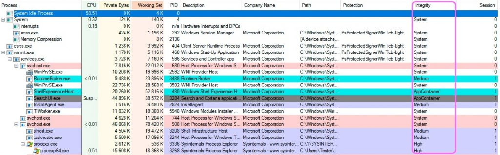 Malicious Code and the Windows Integrity Mechanism