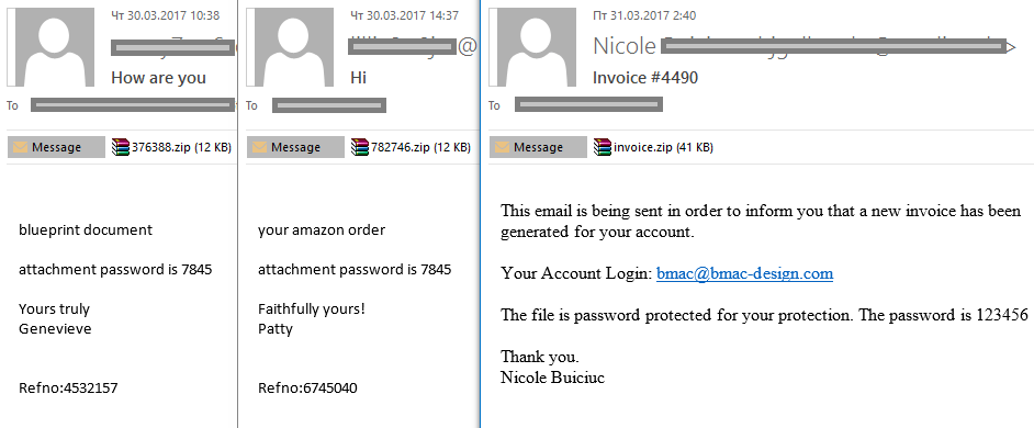 Spam and phishing in Q1 2017