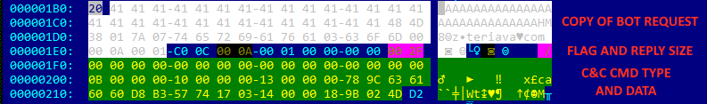 Use of DNS Tunneling for C&C Communications