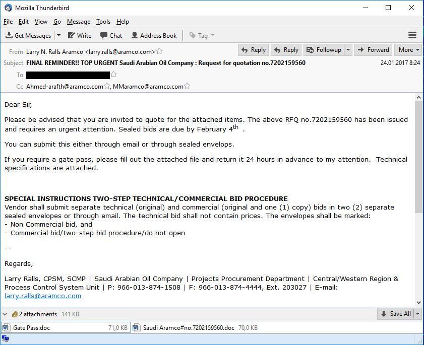 Nigerian Phishing