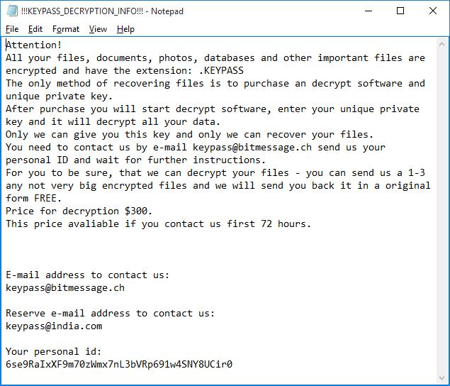 - 180813 keypass 5 - KeyPass ransomware – Securelist