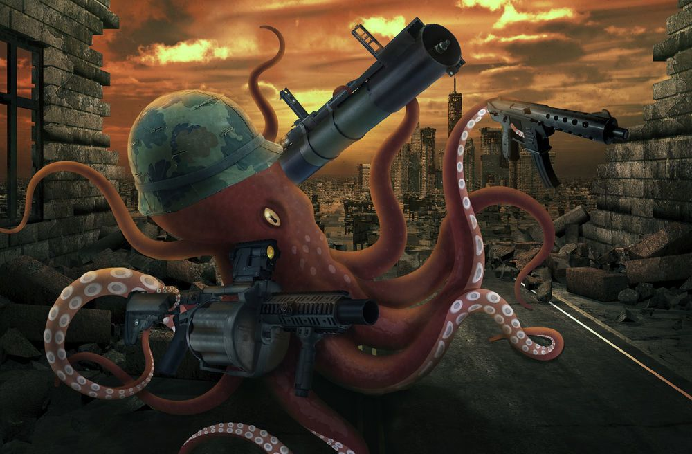 Octopus-infested seas of Central Asia
