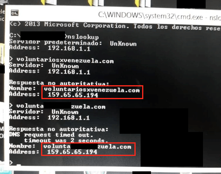 - 190213 dns venezuela 3 - DNS Manipulation in Venezuela in regards to the Humanitarian Aid Campaign