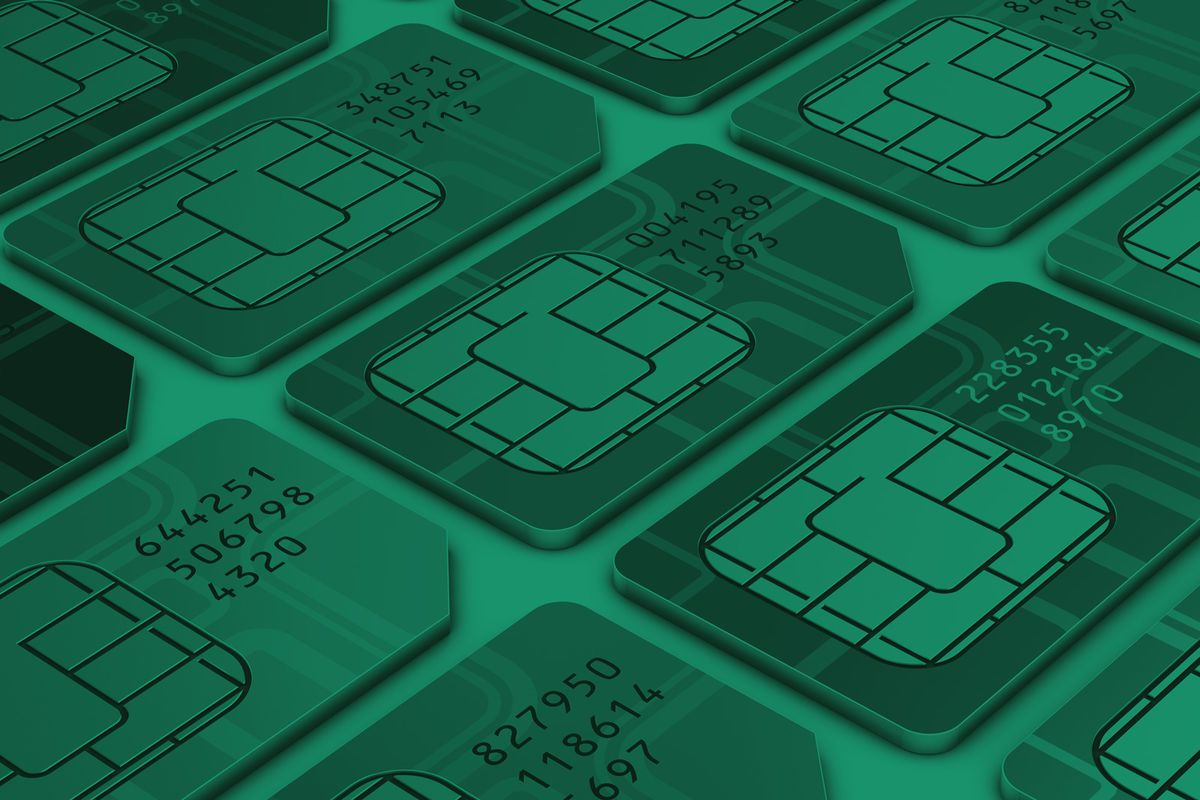Abstract-mobile-sim-card