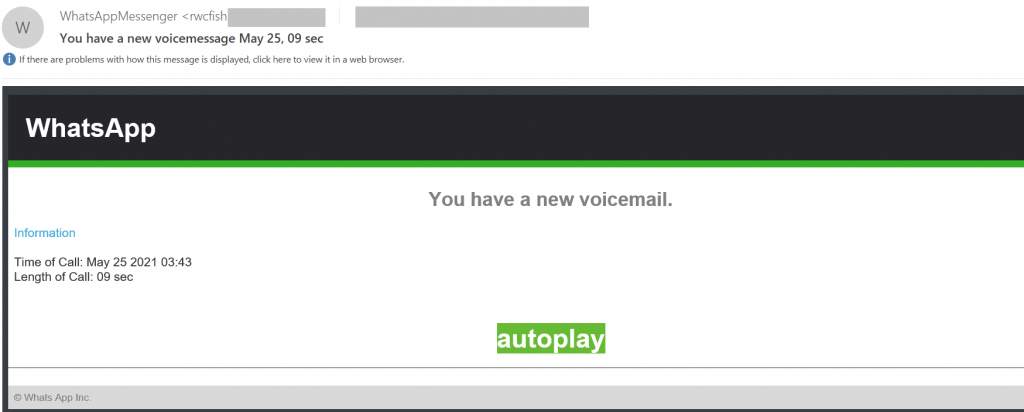 Spam and phishing in Q22021: WhatsApp voice message fraud